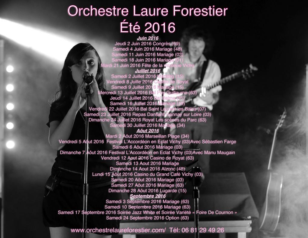 Orchestre Laure Forestier Eté 2016