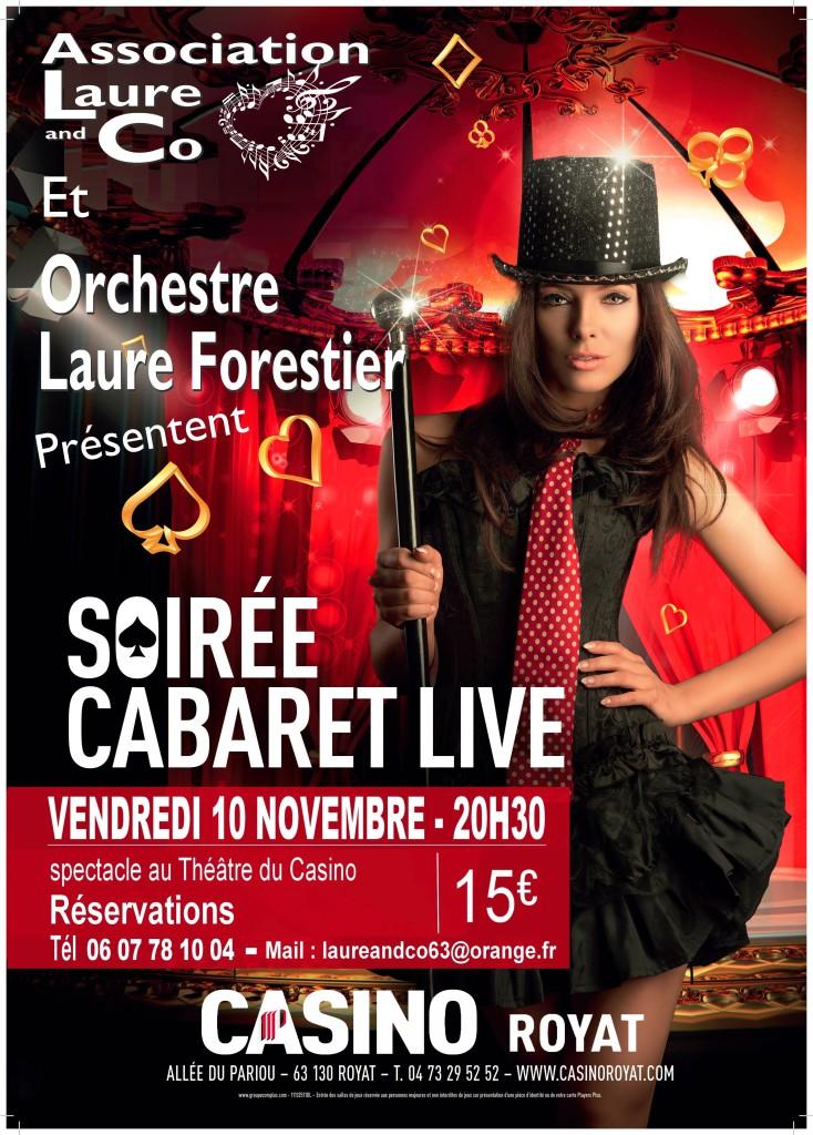 Flyer soirée cabaret Live